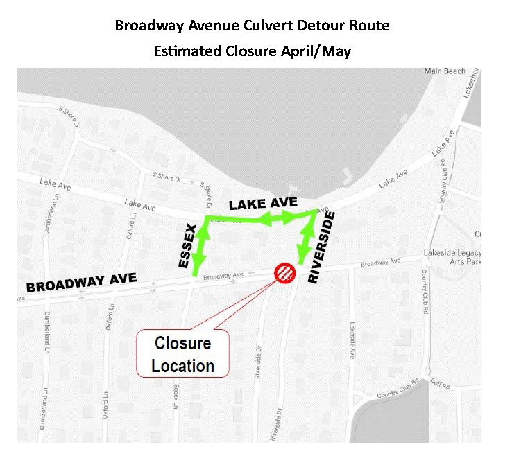 Broadway Culvert Detour 1
