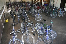 Bicycles in Storage