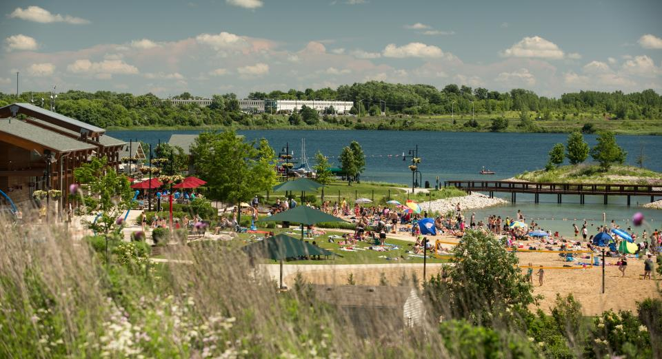 Crystal Lake Il >> Swim Beach Crystal Lake Il