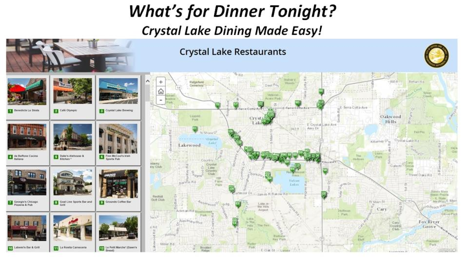 Resturant Story Map New Interactive Crystal Lake Of Restaurants